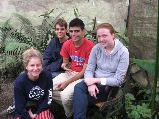 Allison, Phil, Joseph, and Emily in Mindo