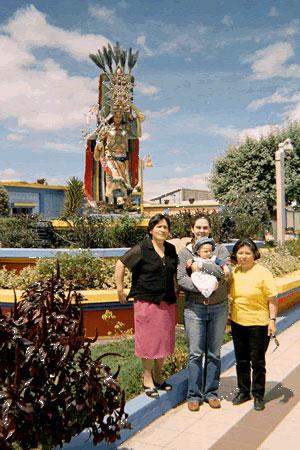 Sarah with her Ecuadorian Family